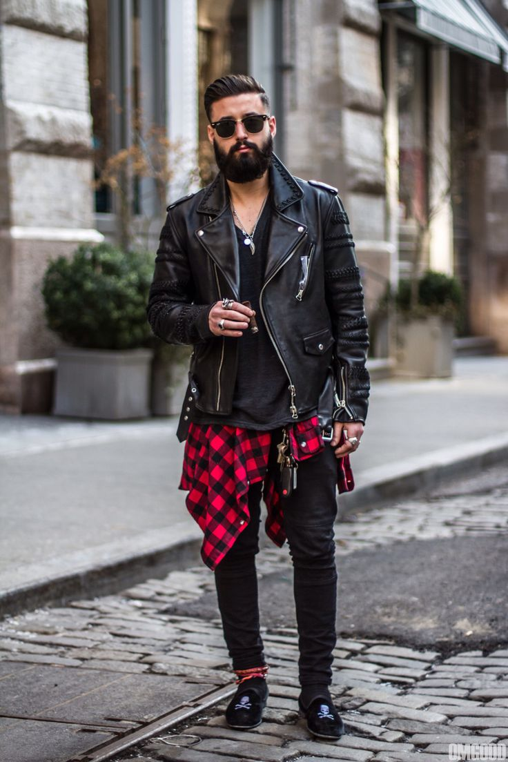 Punk style clothing for guys
