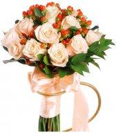 Персиковая Принцесса - букет для невесты