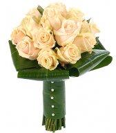 Свадебный букет из роз - Золотой мёд