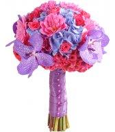 Свадебный букет из роз - Яркий и веселый