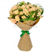 Букеты из розовых роз