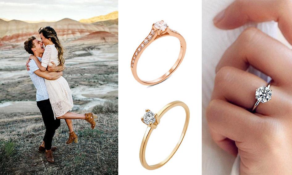 помолвочные кольца от злато